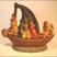 4. Vers la collection de statuettes anciennes de terre cuite de l'Inde : Ces figurines populaires en terre cuite moulée représentent les dieux ou des personnages de la vie de tous les jours. C'est une tradition du Tamil Nadu depuis au moins le 19ème, comparable à celle de nos « santibelli » installés à la même époque sur les buffets et les cheminées de tous les intérieurs provençaux. On en fabrique aujourd'hui encore, le plus souvent en plâtre!