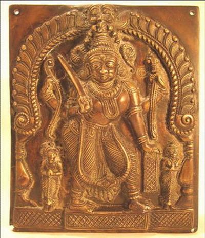 bronze cire perdue antiquite bas relief inde