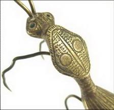 bronze cire perdue insecte inde