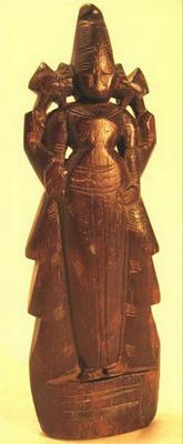 figurine poupee bois antiquite dieu inde