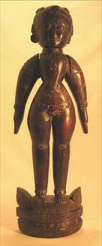 figurine poupee bois homme antiquité inde
