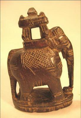 figurine poupee bois elephant antiquite inde