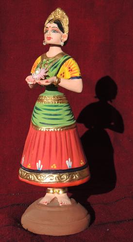 figurine poupée danseuse bollywood papier maché Inde