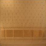 bordure palu sari coton jamdani tisse main blanc or inde