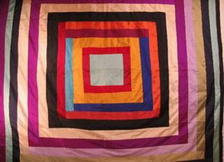 patchwork de soie sauvage bandes multicolore tisse main inde