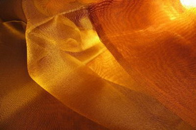 nappe organza de soie vieil or cuivre tisse main inde