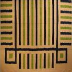 nappe couvre lit coton ikat detail tissé main rayures bleu blanc vert inde