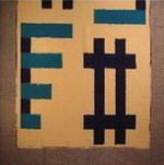 nappe couvre lit coton ikat detail tissé main bandes bleu blanc inde