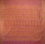 bordure palu sari coton broche effet chatoyant tisse main rose or inde