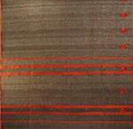 bordure palu sari soie brode tisse main noir orange inde