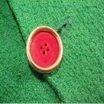 coussin tablier ancien laine brode main bouton de fermeture bulgarie