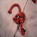 coussin tablier ancien laine tisse main lien de fermeture bulgarie