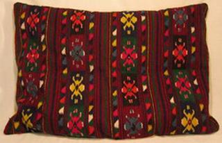 coussin tablier laine ancien tisse main bulgarie
