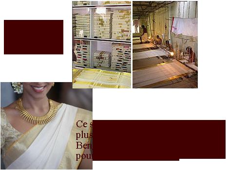 boutique atelier tissage sari kerala inde
