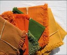 serviettes de table couleur tisse main inde