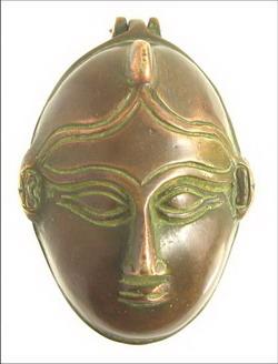 inde boite bronze visage