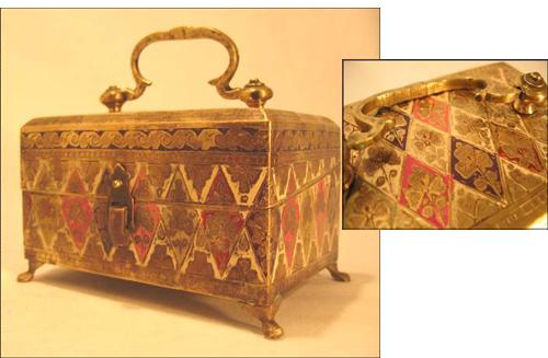 boîte à parfums inde antiquité cloisonné