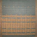 bordure palu sari coton broche effet chatoyant tisse main bleu or inde