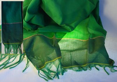 etole coton tissee main vert fil or cambodge