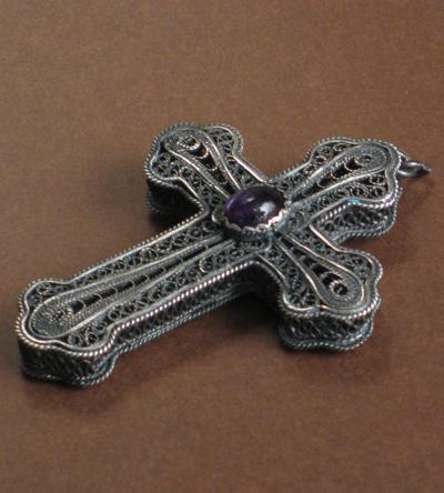 croix filigranne argent bulgarie