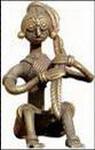 coiffure inde sculpture bronze adivasi