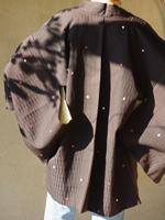 kimono haori japon soie doublure soie noir pois dos