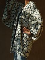 kimono haori japon soie doublure soie bleu