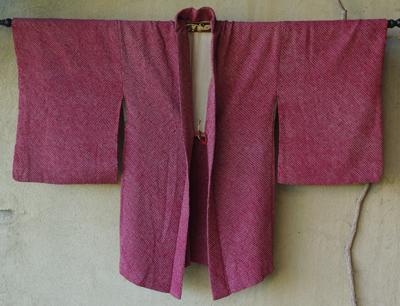 kimono haori japon soie doublure soie rose shibori tie dye